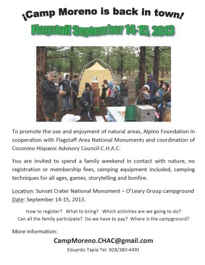 Camp Moreno on Sept. 14-15