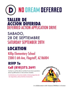 No Dream Deferred drive on Sept. 28