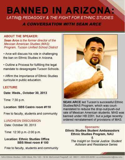 Nov. 30 — Ethnic Studies Ban