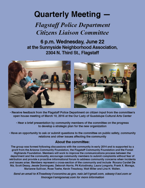 June 22 FPD Liaison Committee Meeting